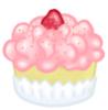 Pink Fluffy Cupcake