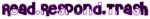 Read Respond Trash in purple