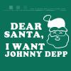 Dear Santa, I want Johnny Depp